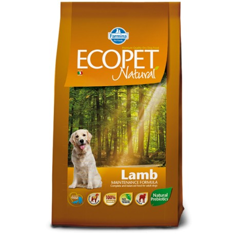 Ecopet Natural Medium Lamb Adult 12 Kg